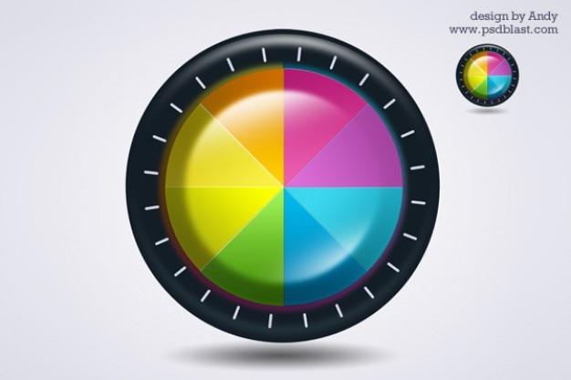 ic u00f4ne de roue de couleur
