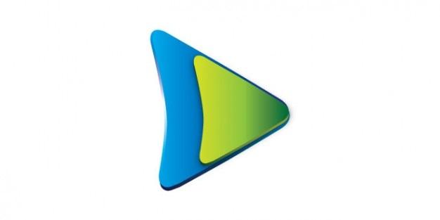 jouer logo du bouton de couleur vert et bleu t l charger psd gratuitement. Black Bedroom Furniture Sets. Home Design Ideas