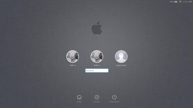 La pomme lion fen tre de connexion t l charger psd for Fenetre de connexion