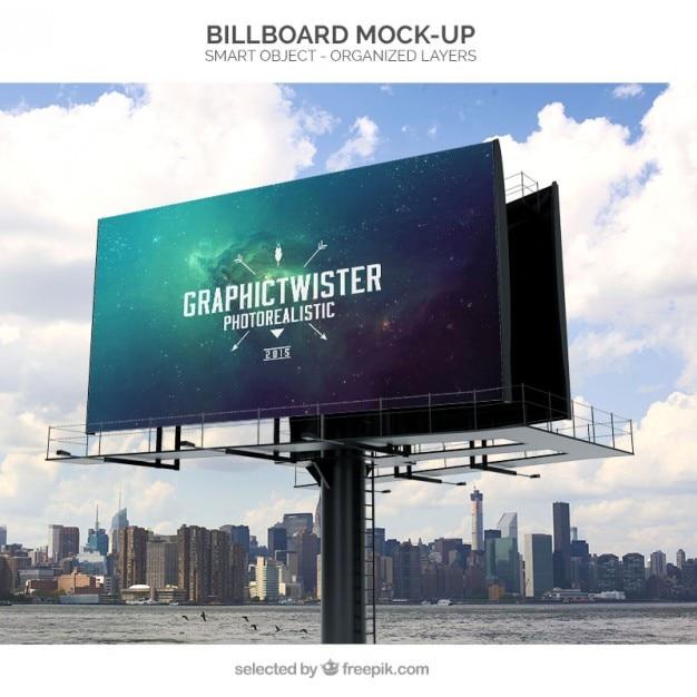 Maquette Billboard Psd gratuit