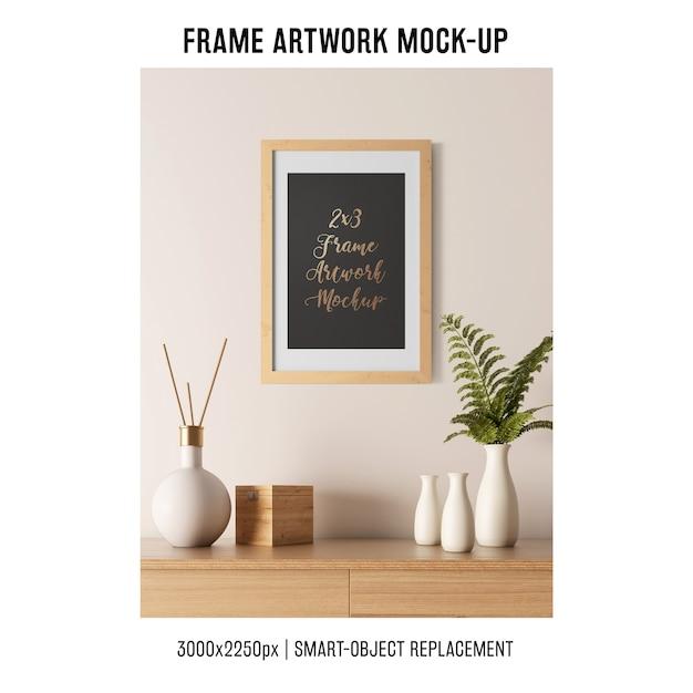 Maquette d'illustration de cadre décoratif Psd gratuit