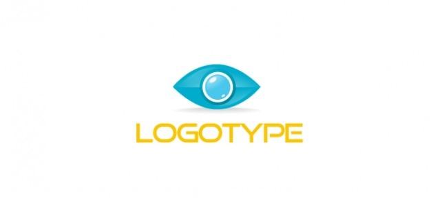 modèle de logo oeil pour les affaires et les communications Psd gratuit