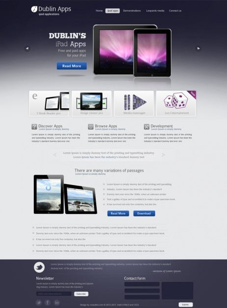 professionnelle mod u00e8le de conception site web de prime pour l u0026 39 ipad et iphone application