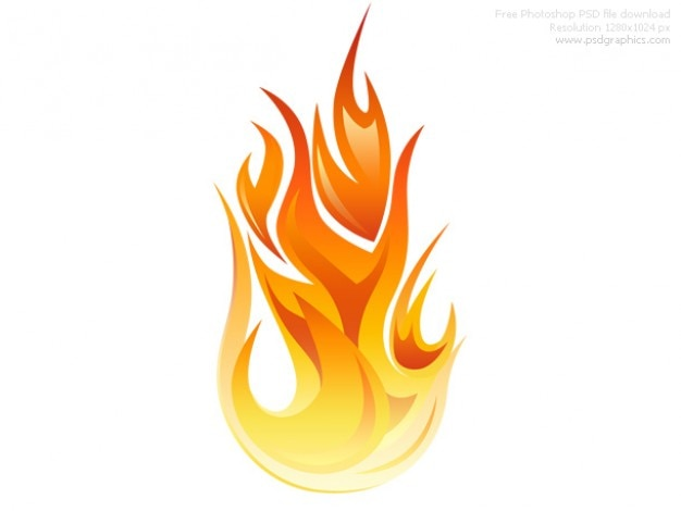 PSD icône de flamme Psd gratuit