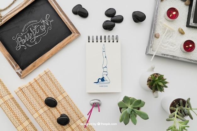 decorazione pacifica di yoga scaricare psd gratis