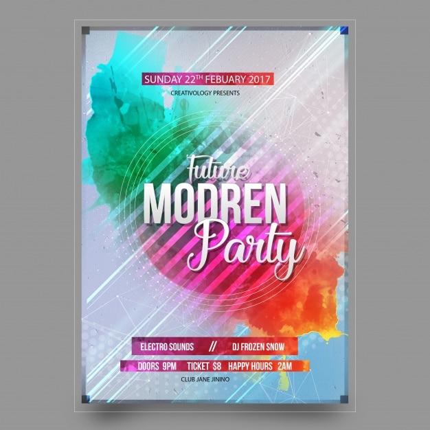 Design del manifesto del partito Psd Gratuite
