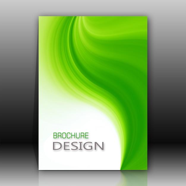 Disegno del brochure verde e bianco Psd Gratuite