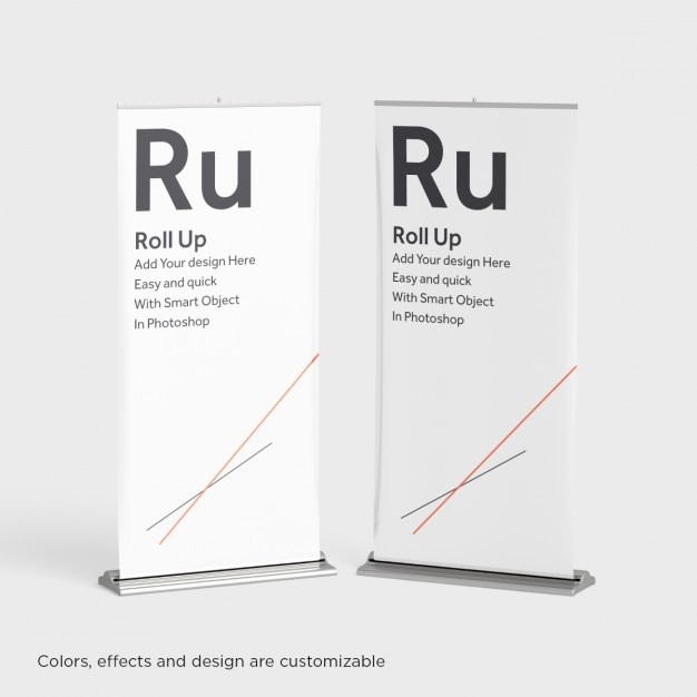 Due roll up mock up Psd Gratuite