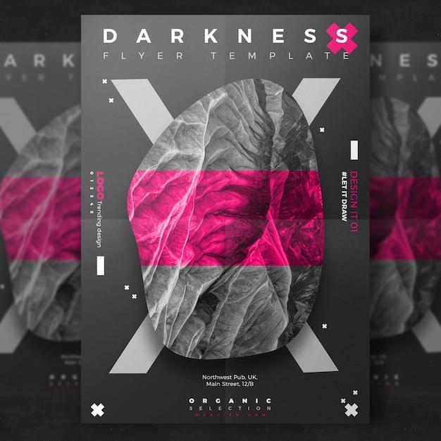 Flyer creativo Dark Event Psd Gratuite