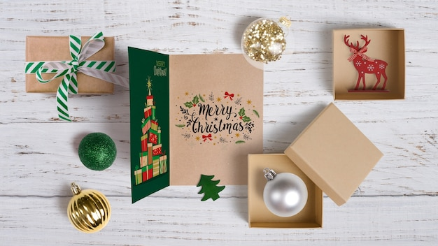Mockup di Natale decorativo Psd Gratuite