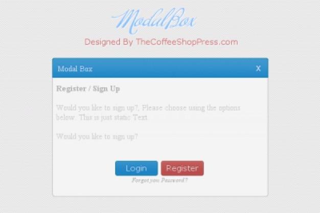 Schermata di login semplice con dialogo modale scaricare for Oficina 2904 la caixa