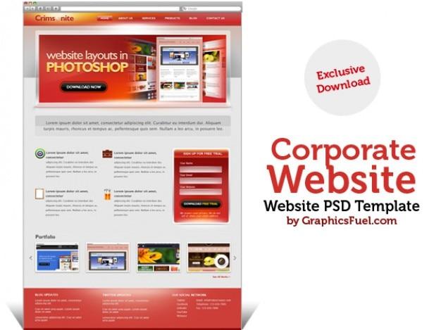 Sito web aziendale template psd scaricare psd gratis for Sito web piano gratuito