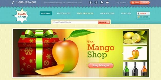 Sito web design commerce template psd scaricare psd gratis for Design sito