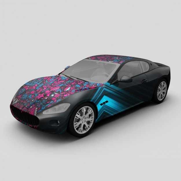 Auto-Mock-up-Design | Download der kostenlosen PSD