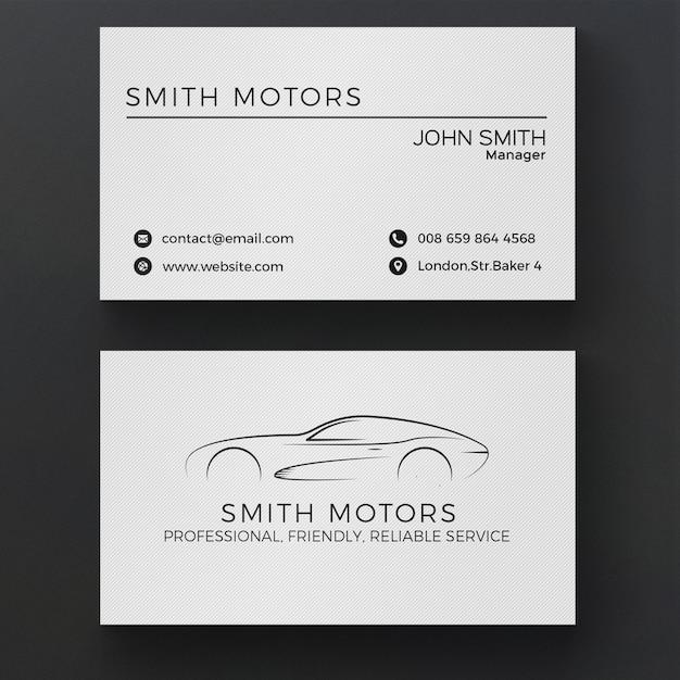 Auto-Service-Visitenkarte Kostenlose PSD