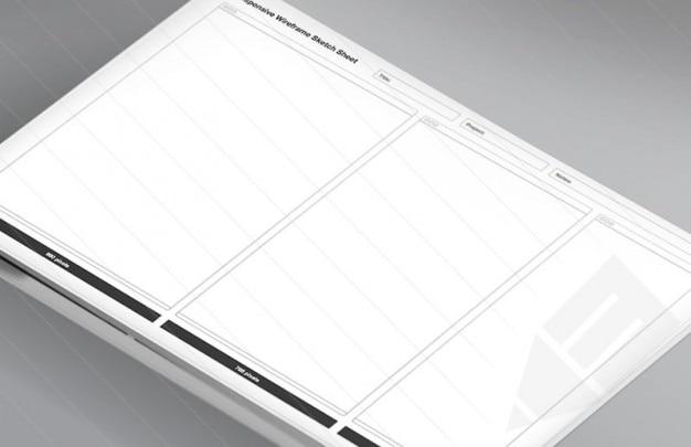 Drahtgitter-weiß-Skizze Blatt   Download der kostenlosen PSD