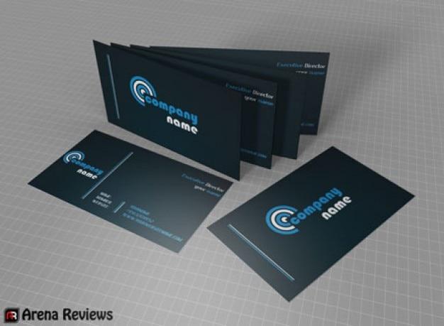 Dunkel professionelle visitenkarten vorlage download der - Visitenkarten kostenlos download ...