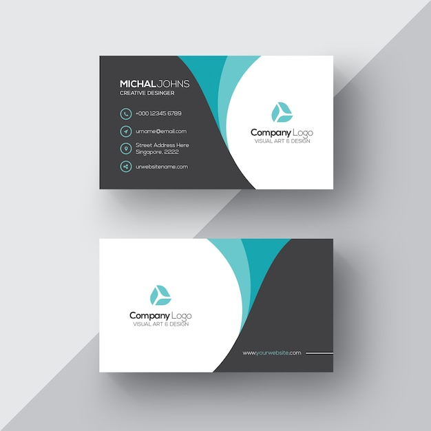 Elegante Visitenkarte Kostenlose PSD