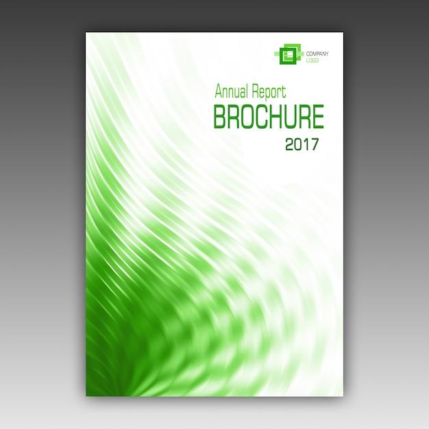 Grüne Broschüre Vorlage | Download der kostenlosen PSD