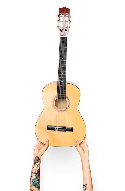 Hand mit Gitarre | Download der kostenlosen PSD