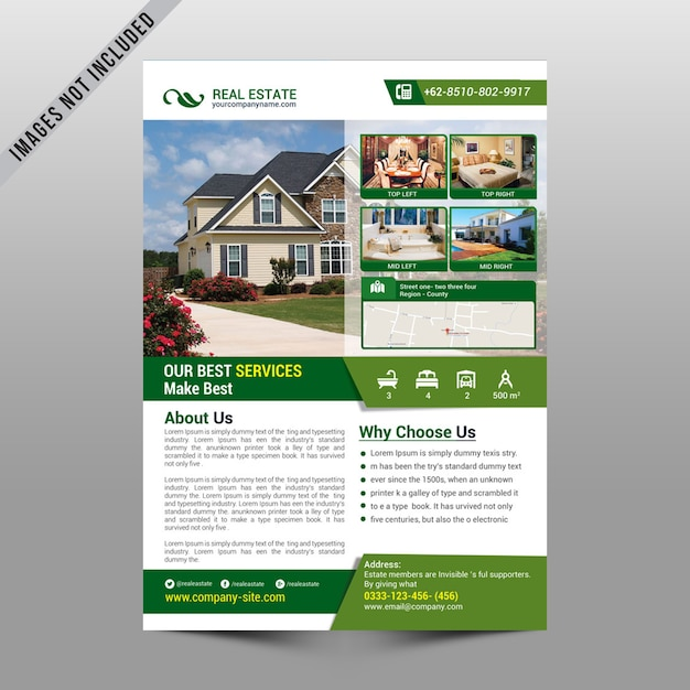 Immobilien-Flyer-Modell | Download der Premium PSD