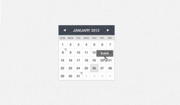 Kalender-Schnittstelle Sammlung in verschiedenen Farben-   Download ...