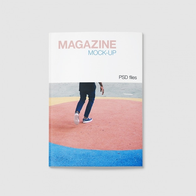 Magazine Mock-up-Design Kostenlose PSD