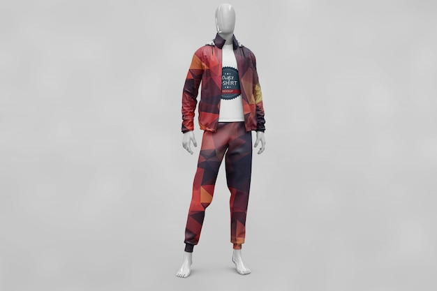 Mann Sport Kleidung Mock up   Download der Premium PSD