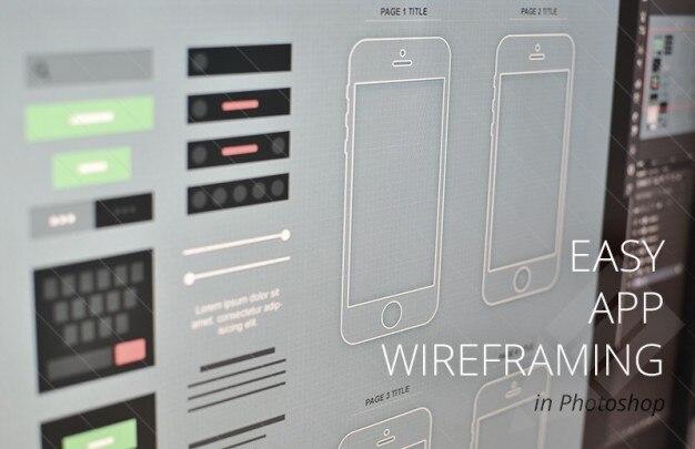 Modernen Drahtmodell-App für iphone | Download der kostenlosen PSD