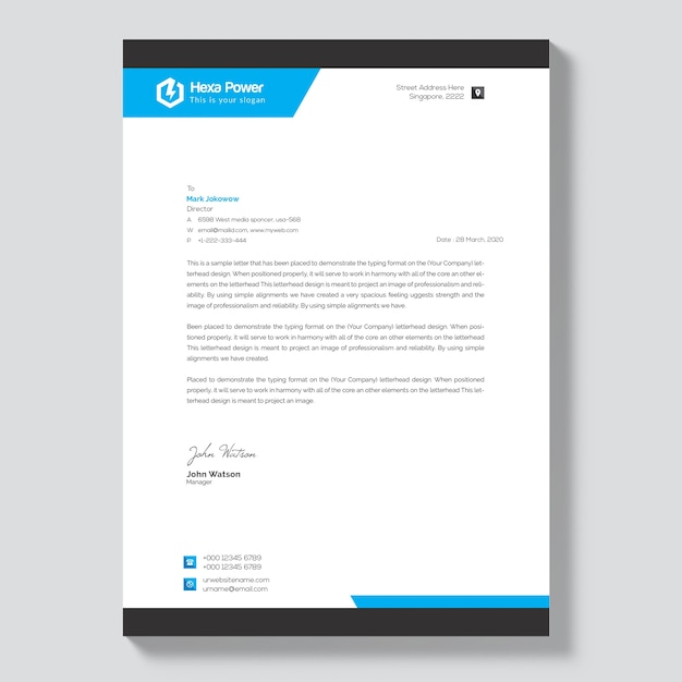 Professionelles Briefkopfmodell Download Der Premium Psd