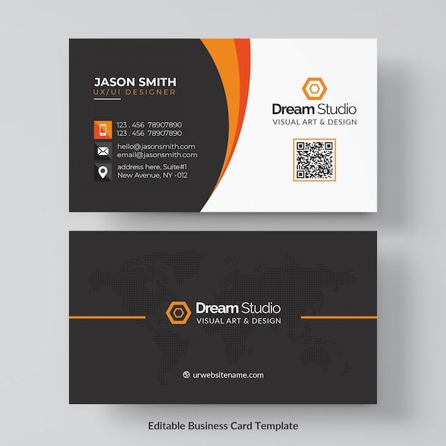 Professionelles Visitenkarten-Modell Kostenlose PSD