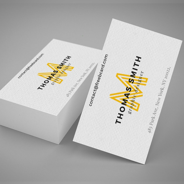 Realistische Visitenkarte MockUp Kostenlose PSD