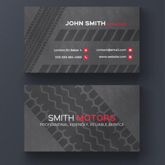 Reifendruck-Visitenkarte Kostenlose PSD