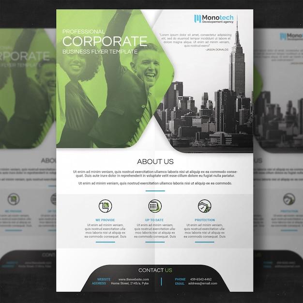 Saubere Corporate Flyer Vorlage   Download der Premium PSD