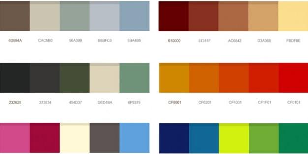 Schöne Farbpaletten psd | Download der kostenlosen PSD
