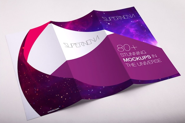 Trifold Mock-up-Design Premium PSD