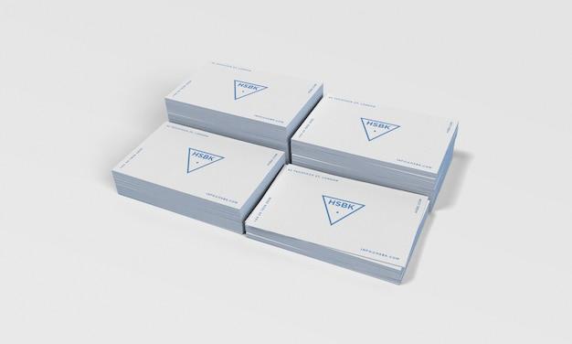 Visitenkartemodell mit bearbeitbarer Kantenfarbe Premium PSD