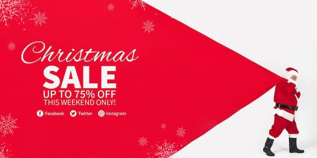 Weihnachten Banner Vorlage | Download der kostenlosen PSD