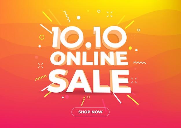 10.10 bannière de magasinage en ligne Vecteur Premium