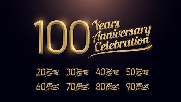 100 ans de célébration Vecteur Premium