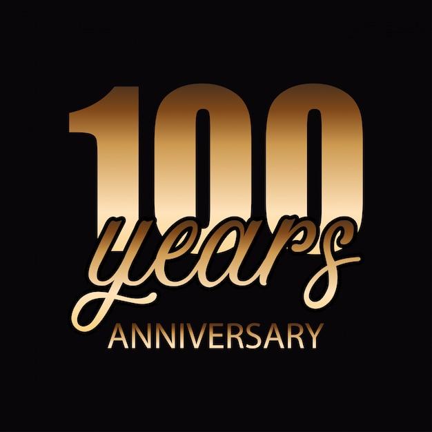100 ans de vecteur d'insigne de célébrations Vecteur gratuit