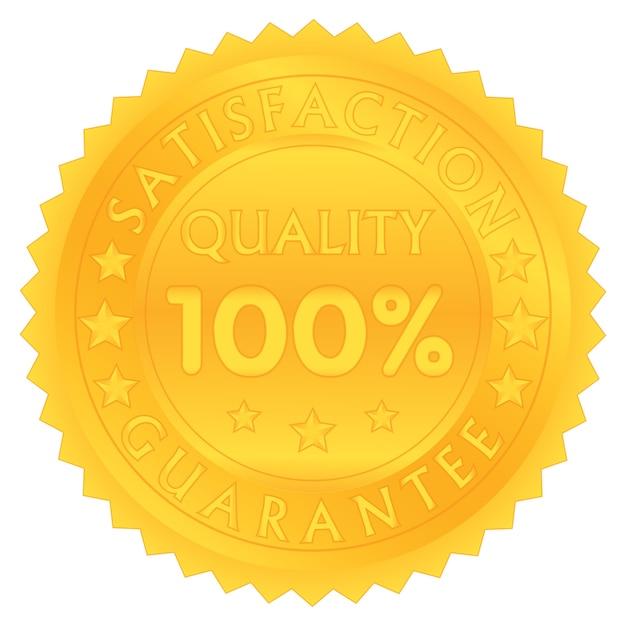 100 pour cent garantissent la qualité de satisfaction Vecteur Premium