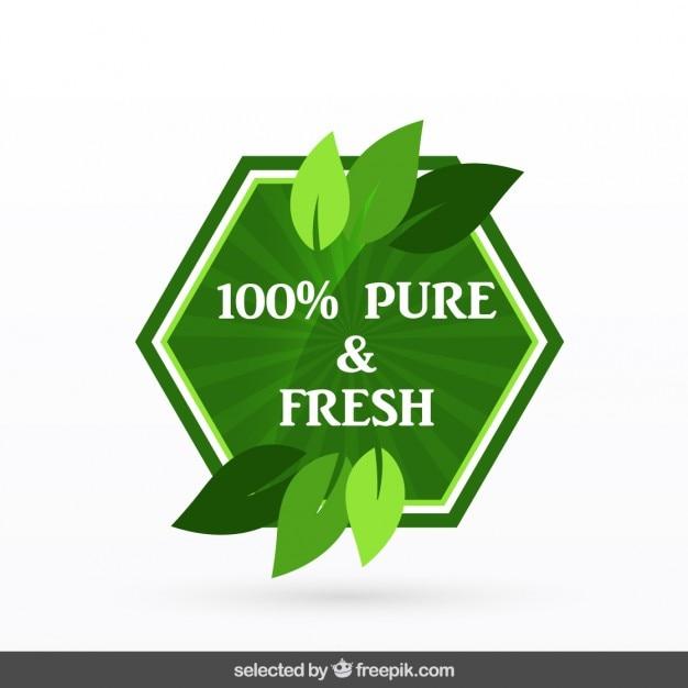 100% pure et fraîche Vecteur gratuit