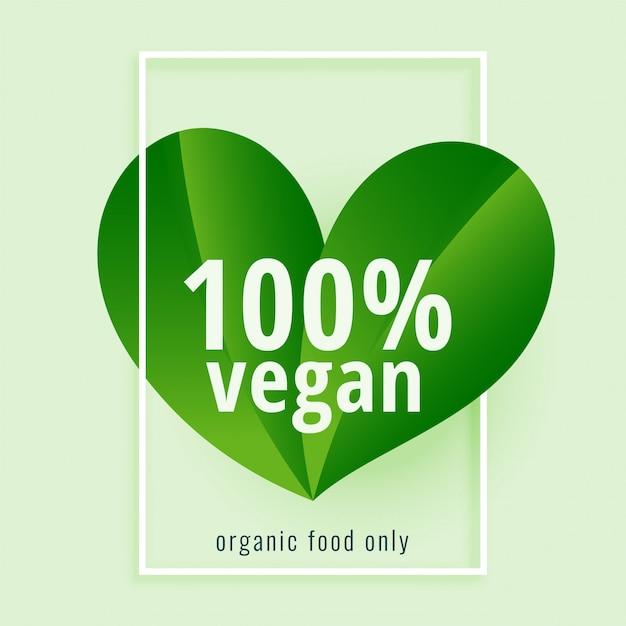 100% Végétalien. Régime Végétalien à Base De Plantes Vertes Vecteur gratuit
