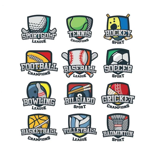 12 vecteur logo sport Vecteur Premium