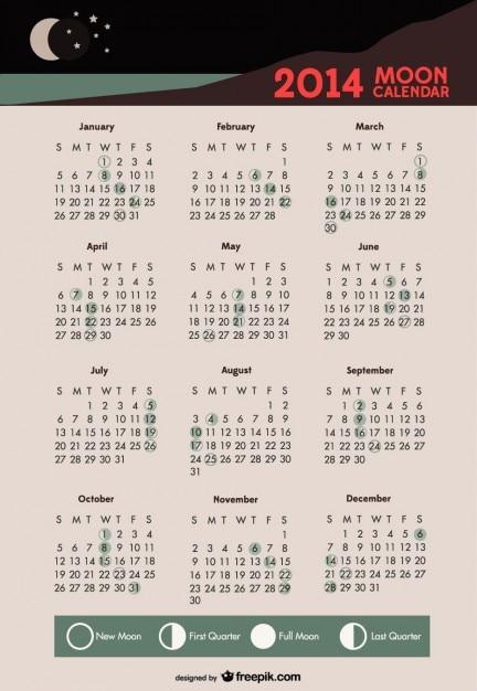 Calendrier De Lune.2014 Calendrier De Lune Phases Lunaires Telecharger Des