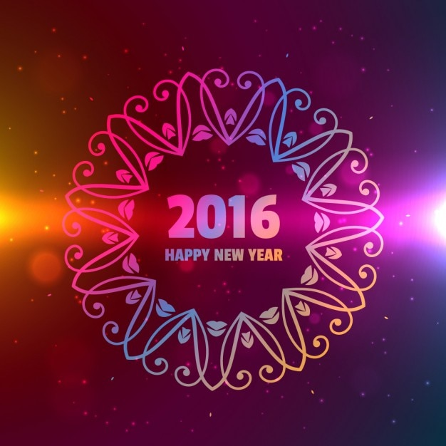2016 Happy New Year Background Avec Ornement T L Charger