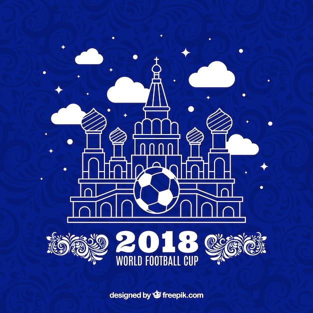 2018 fond de la coupe du monde de football Vecteur gratuit