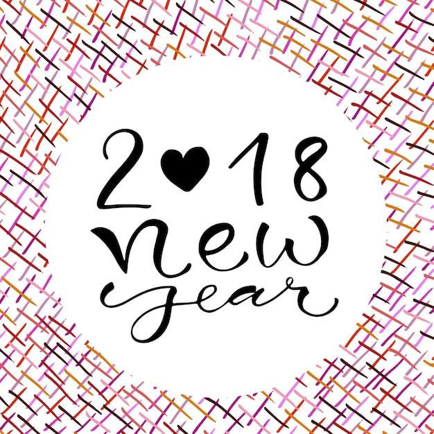 carte pour noel 2018 2018 Nouvel An. Conception de carte de voeux manuscrite de Noël  carte pour noel 2018