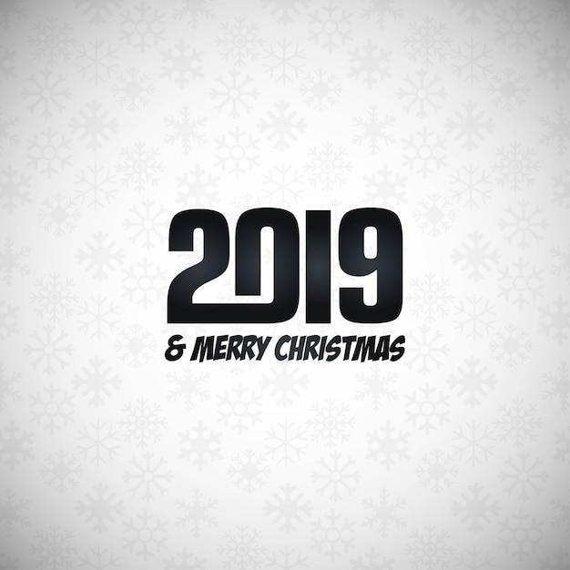 2019 nouvel an design typographique vecteur Vecteur gratuit